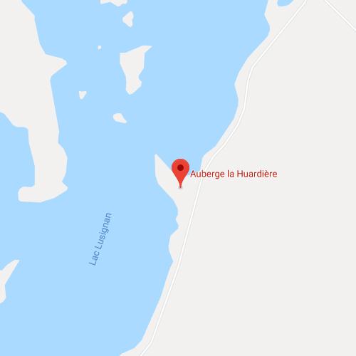 Carte Google  - Auberge La Huardière